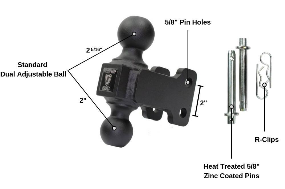 BulletProof Medium Duty Dual Hitch Ball