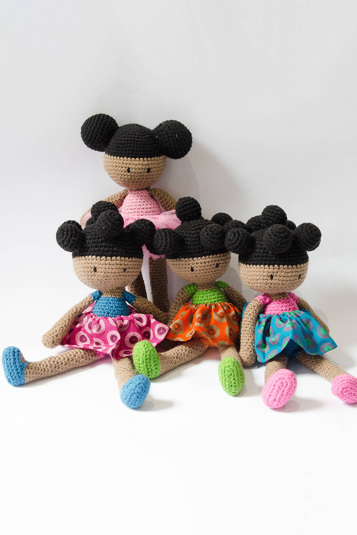 WINNIE & FRIENDS DOLLS Crocheted dolls. Your child's new best friend. 54kibo exclusive. $55