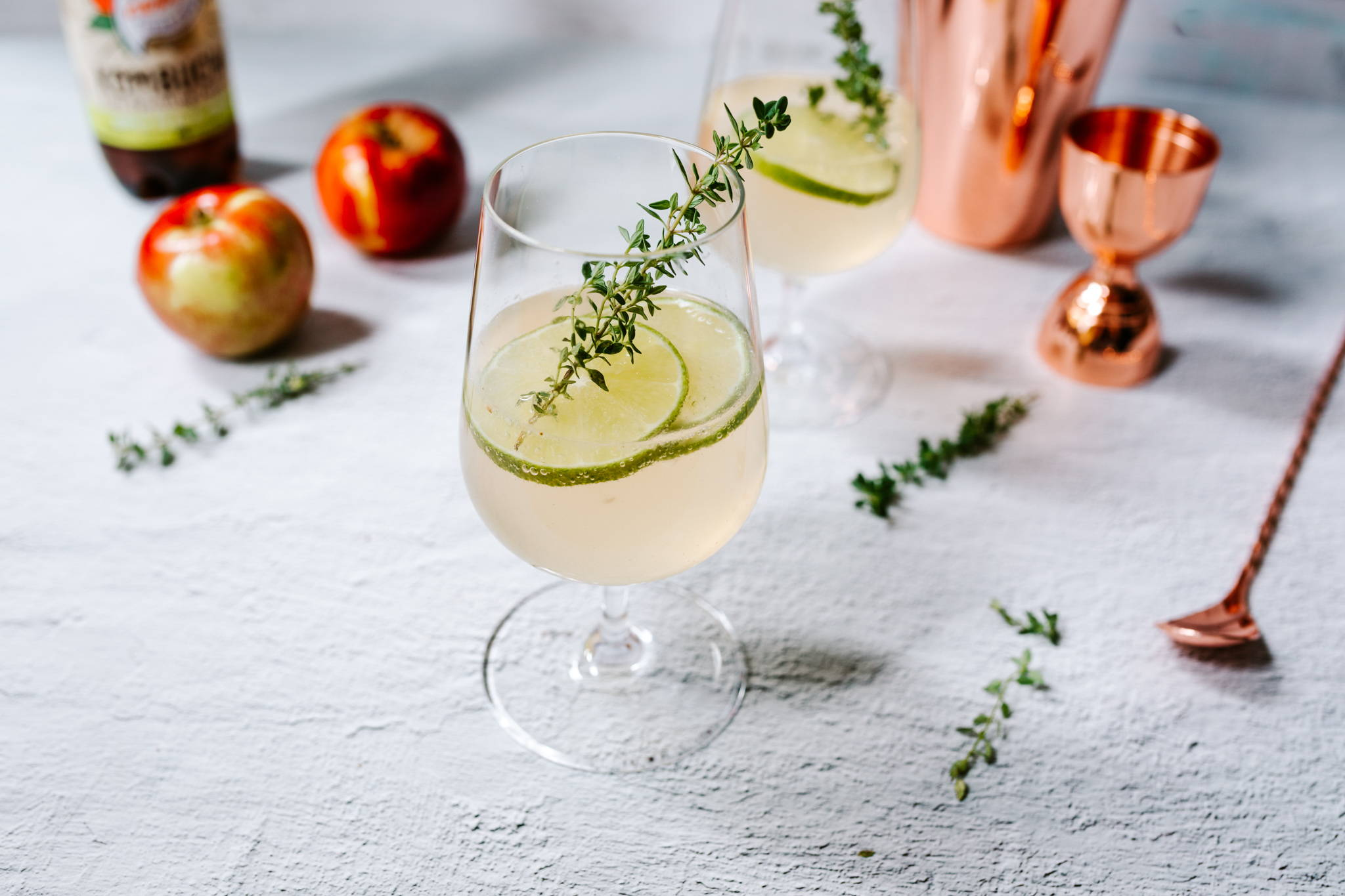 Nexba Apple Kombucha Gimlet Cocktail Recipe