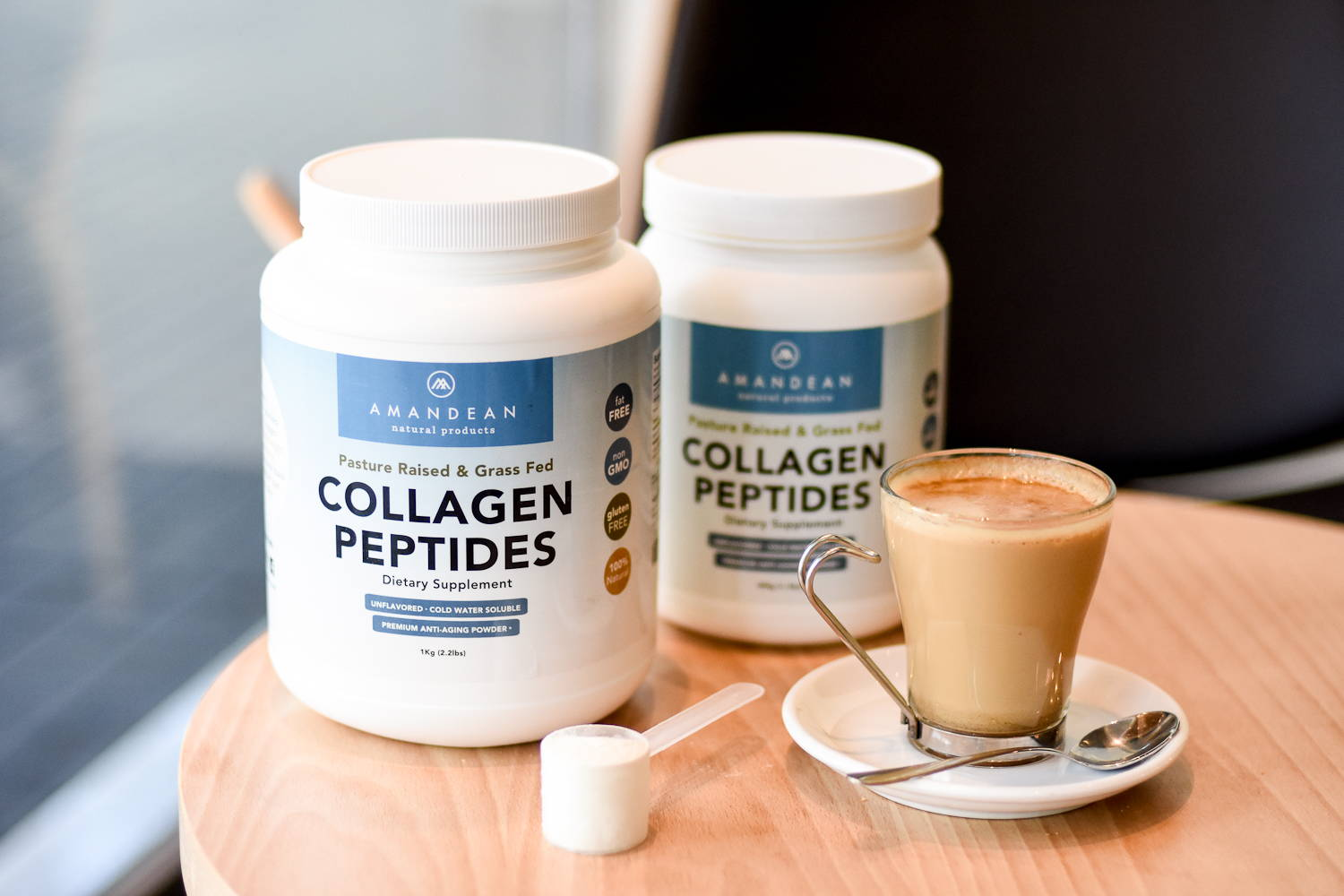 Amandean Grass-Fed Collagen Peptides Powder 1kg & 500g
