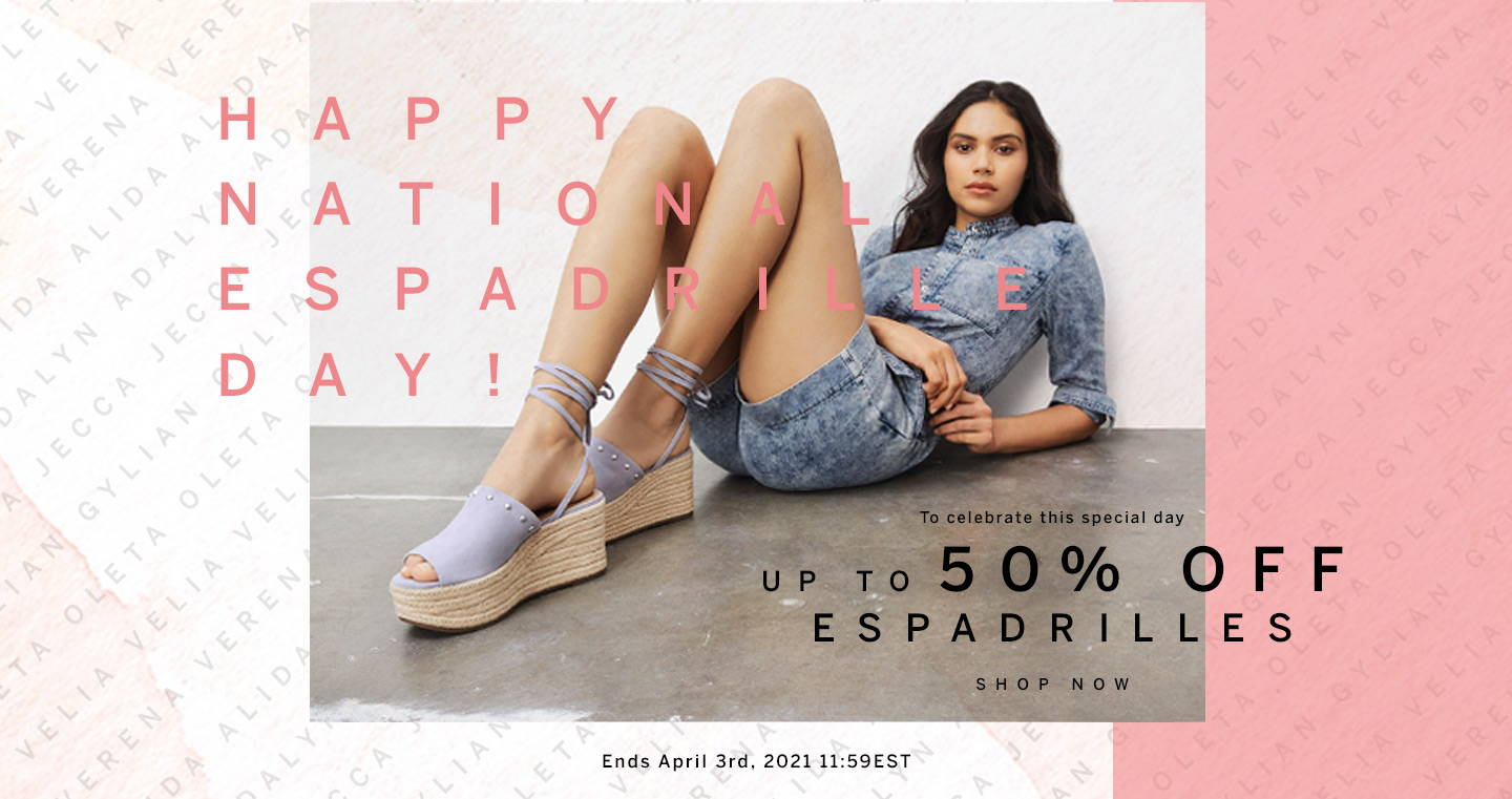 Up to 50% Off Espadrilles