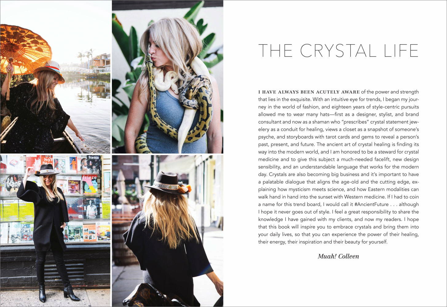 Crystal Rx by Colleen McCann sample spread