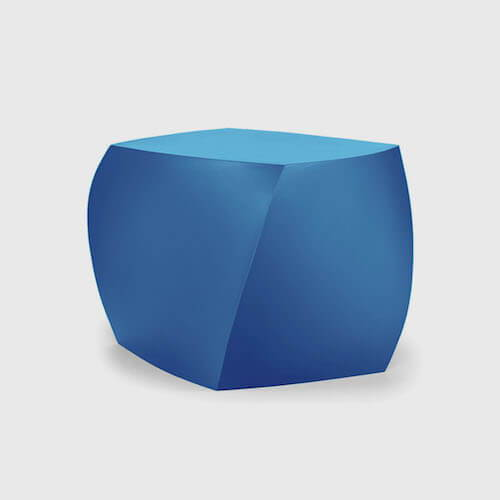 Contemporary Ottomans - Heller Frank Gehry Left Twist Cube