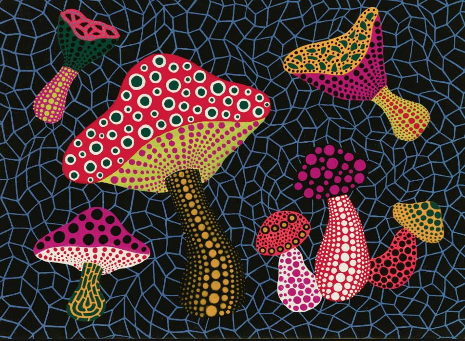 Colorful mushroom by Yayoi Kusama via Sotheby's