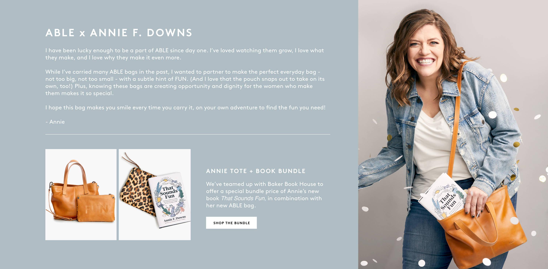 Shop Annie Tote + Book Bundle