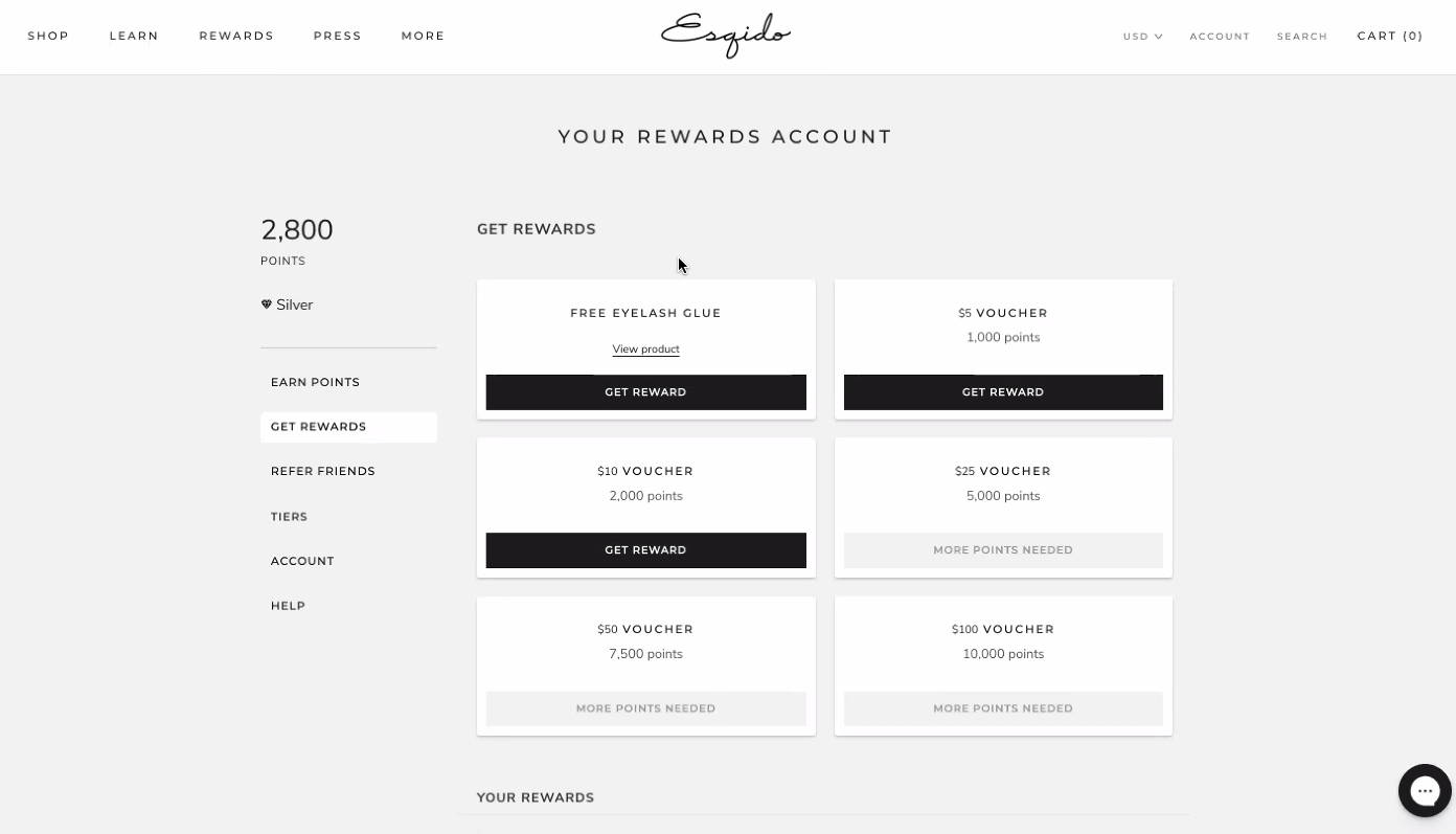 Loyalty Lion - Customer Rewards Dashboard Example