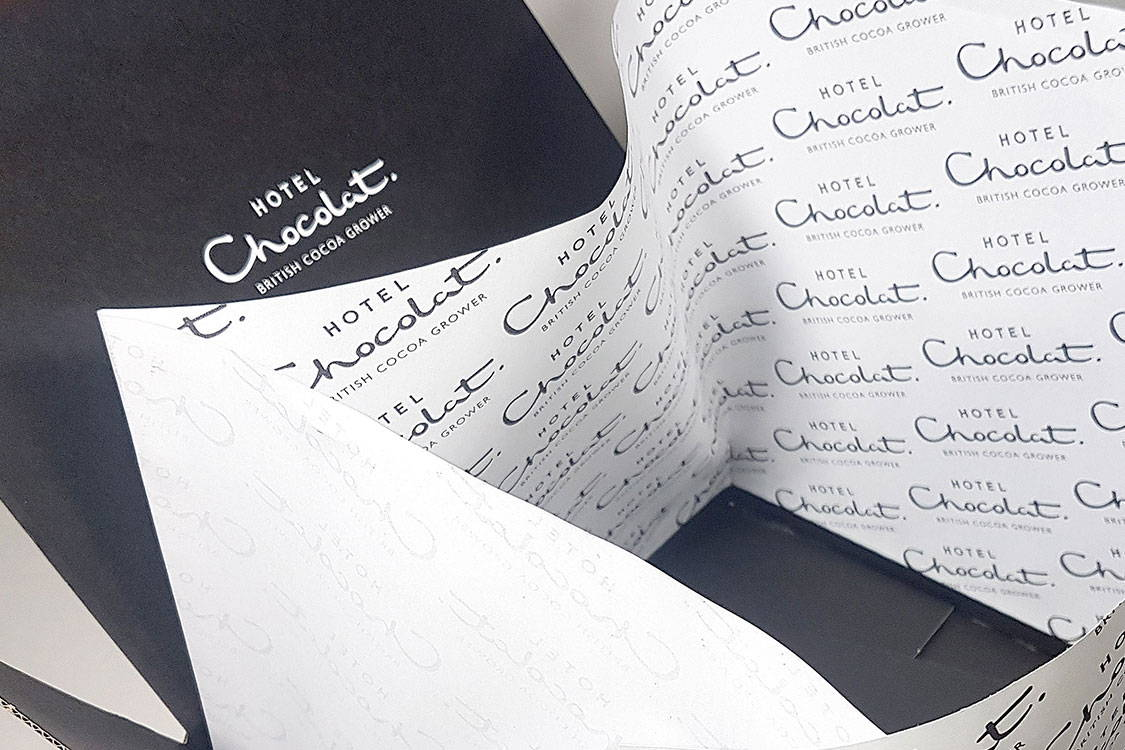 High end packaging for Hotel Chocolat
