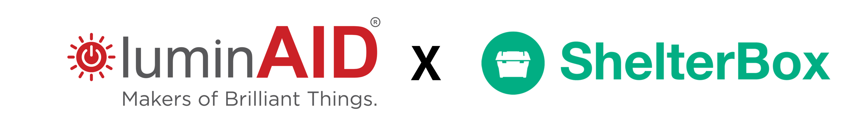 Luminaid and shelterbox logo.
