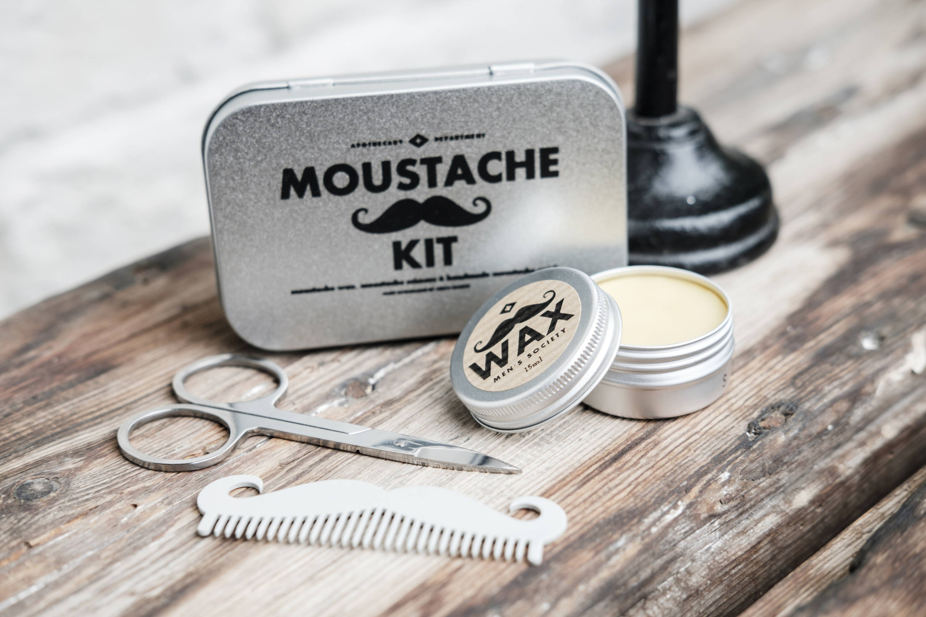 Order your moustache comb as part of our all-in-one Moustache Grooming Kit