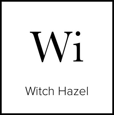 """A square that is meant to look like an element from the Periodic Table of Elements. It says """"Wi Witch Hazel."""""""