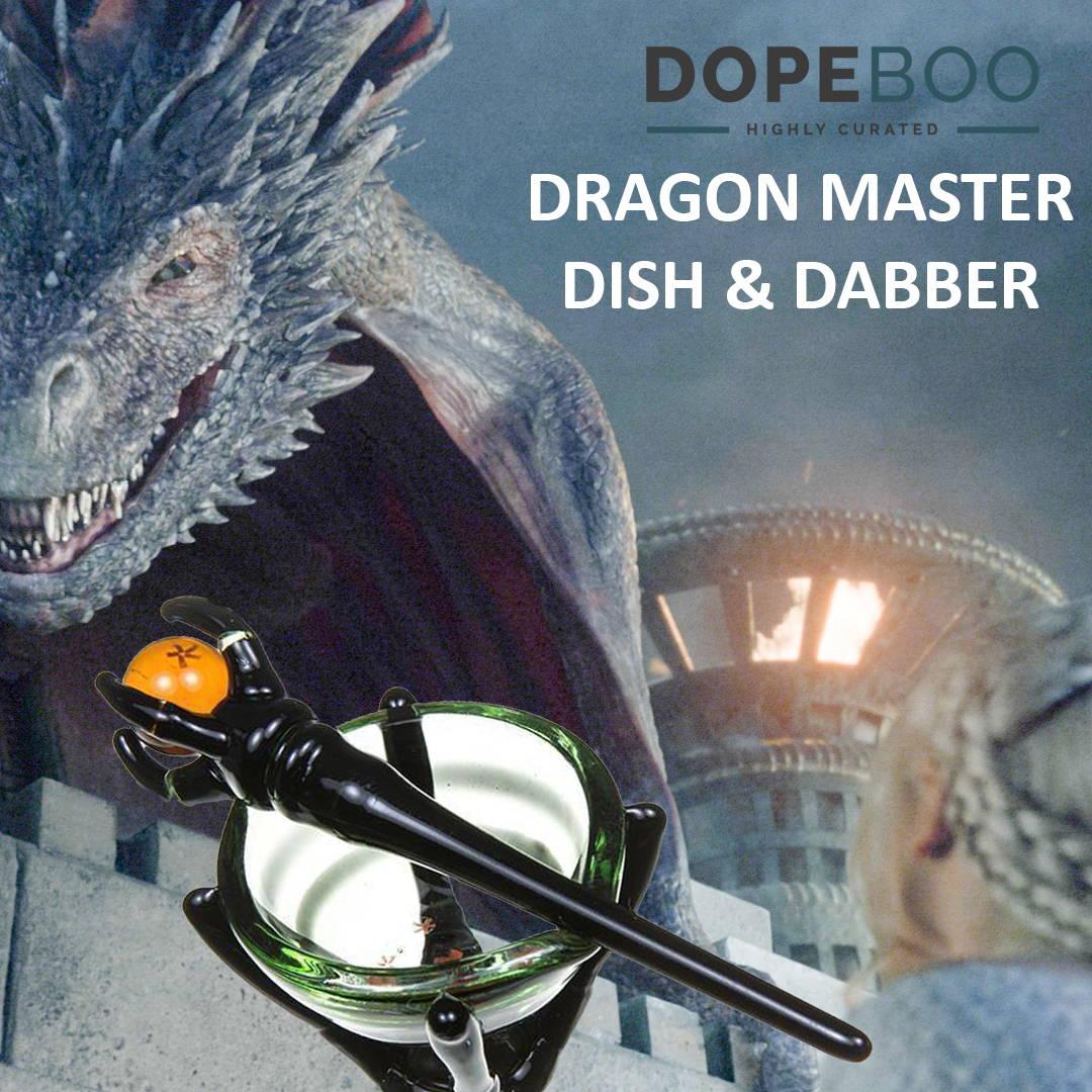 2018 Emmys - Game of Thrones inspired Dragon Master Dish & Dabber Set at DopeBoo.com
