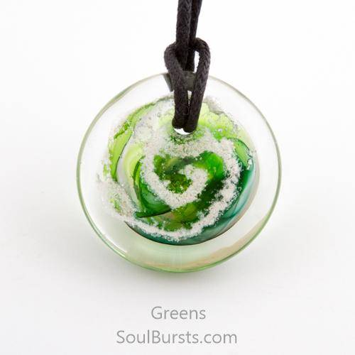 Glass Pendant with Ashes