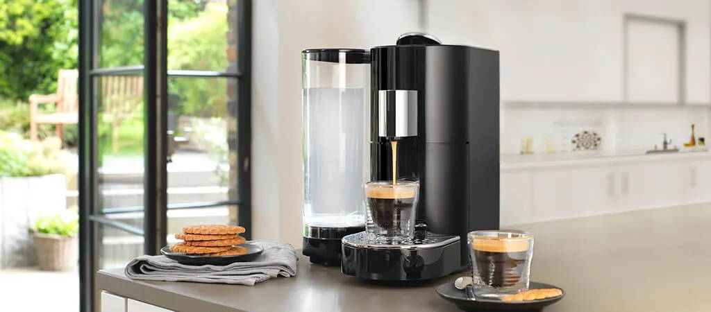 K-fee Twins II - A stylish all-in-one machine for the ultimate coffee experience