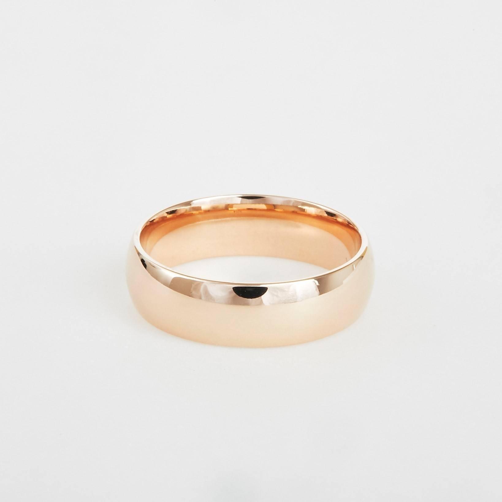 rose gold wedding bands