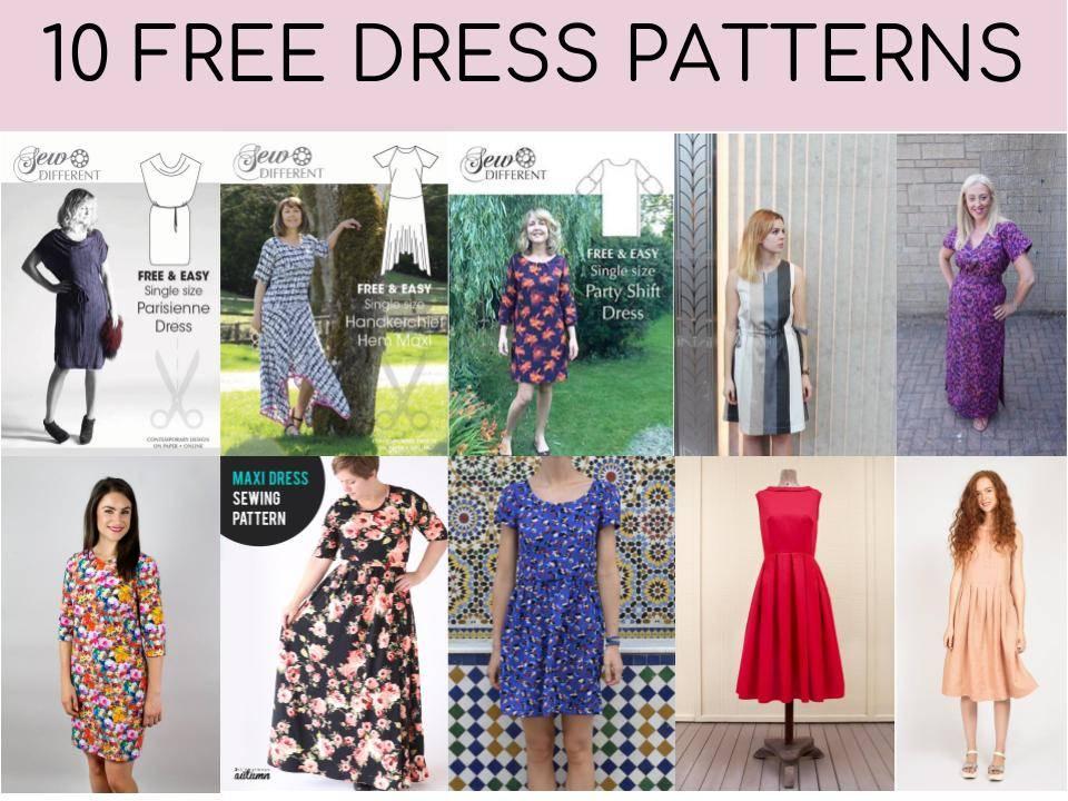 PDF Sewing Pattern for Women Dress pdf sewing pattern Sewing Pattern Download PDF Sewing Patterns Womens Dress PDF Pattern