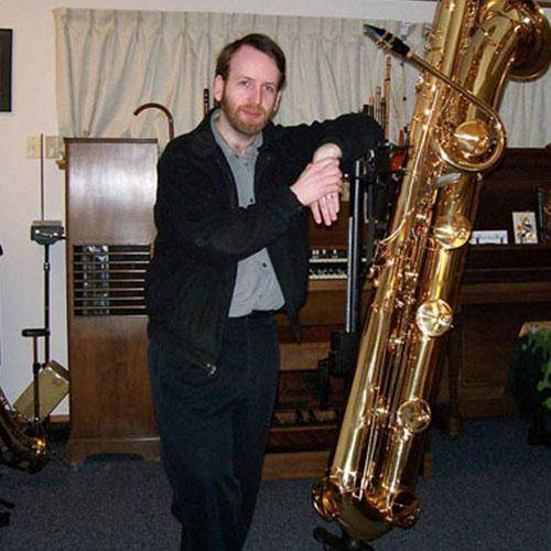 Jay Easton with Contrabass Saxophone