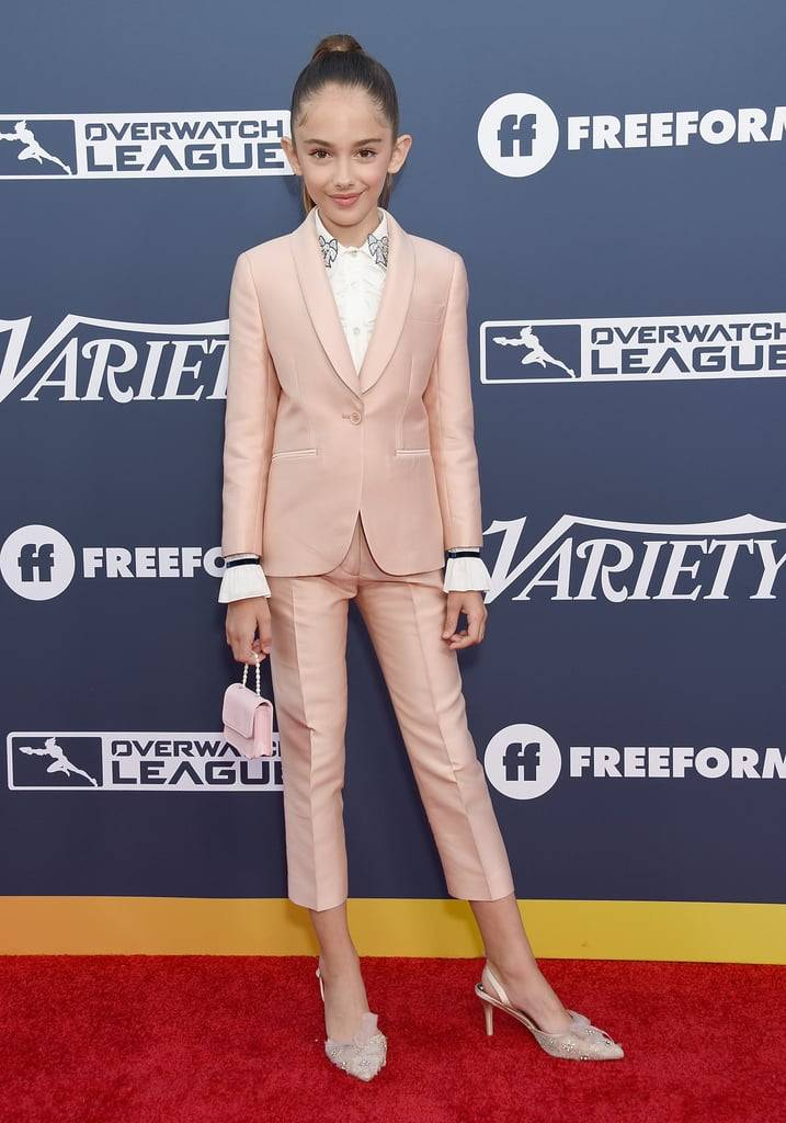 """Quentin Tarantino's """"Once Upon a Time in Hollywood"""" star Julia Butters wearing Badgley Mischka Shoes"""