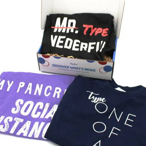 Diabetes fun TShirts in Diabetes Subscription box