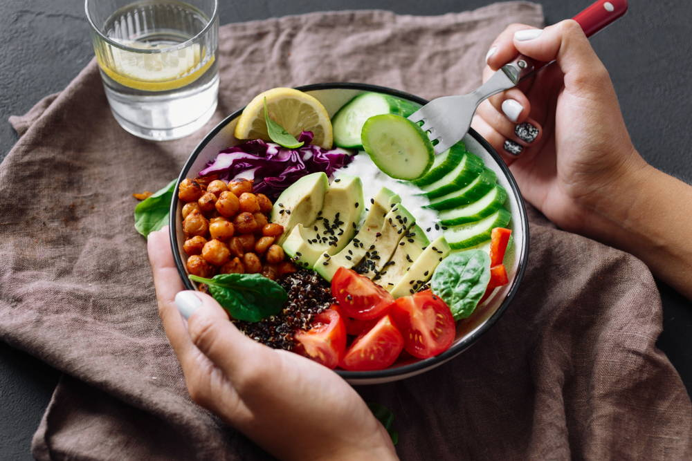 keto diet avocado bowl