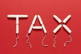 word tax written with tampon design
