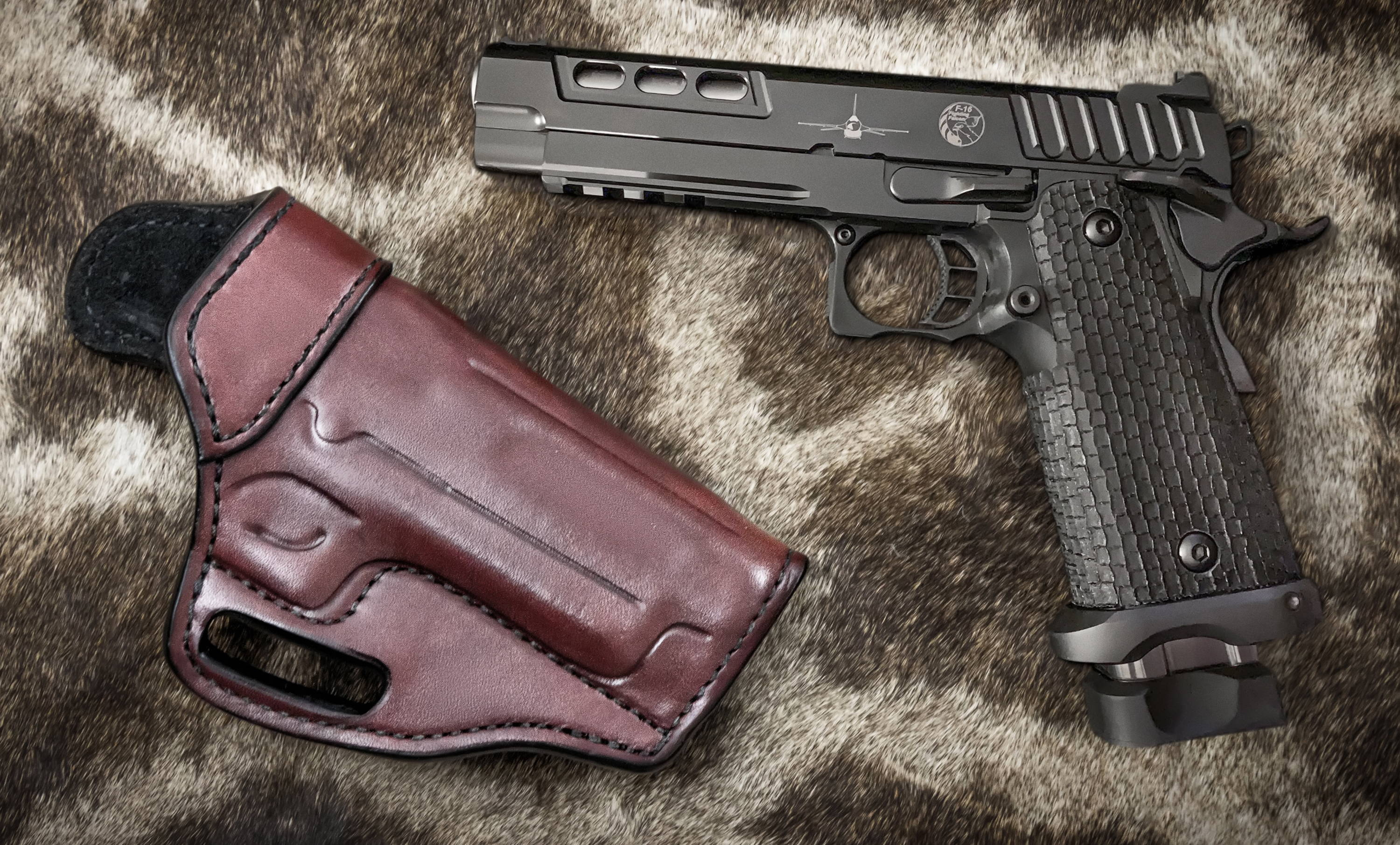 Leather STI Combat Master holsters