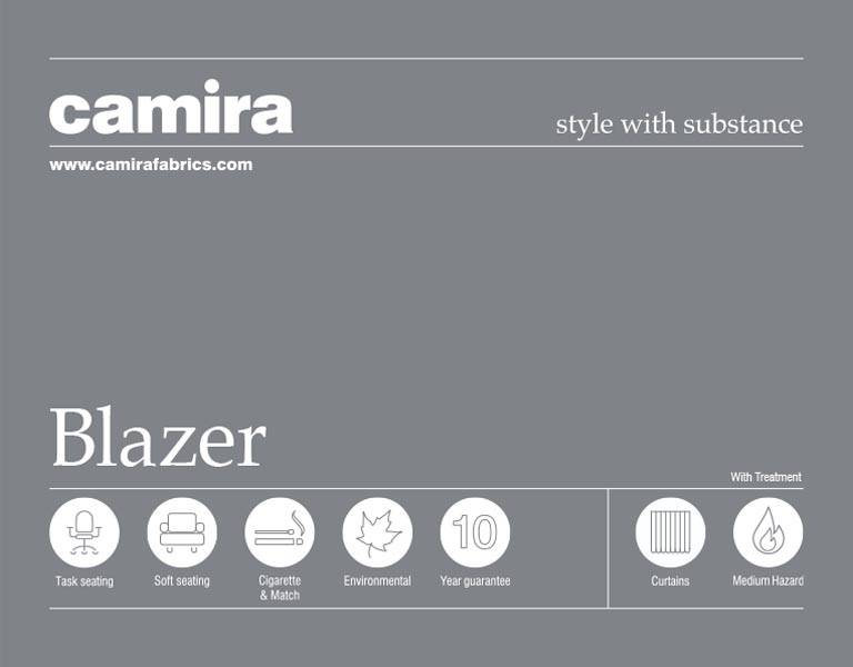 Click here to view the Camira Blazer Acoustic Fabric Swatch