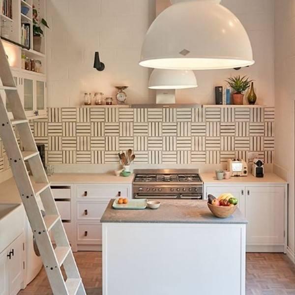 Rolling kitchen ladder