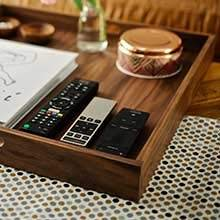 Joined together with two interlocking dovetail joints makes the tray indestructible and perfect for use as an everyday holder for things like TV remotes