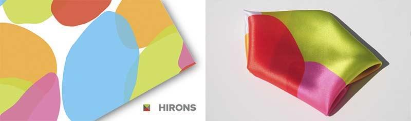 Corporate custom printed pocket squares- Silk twill