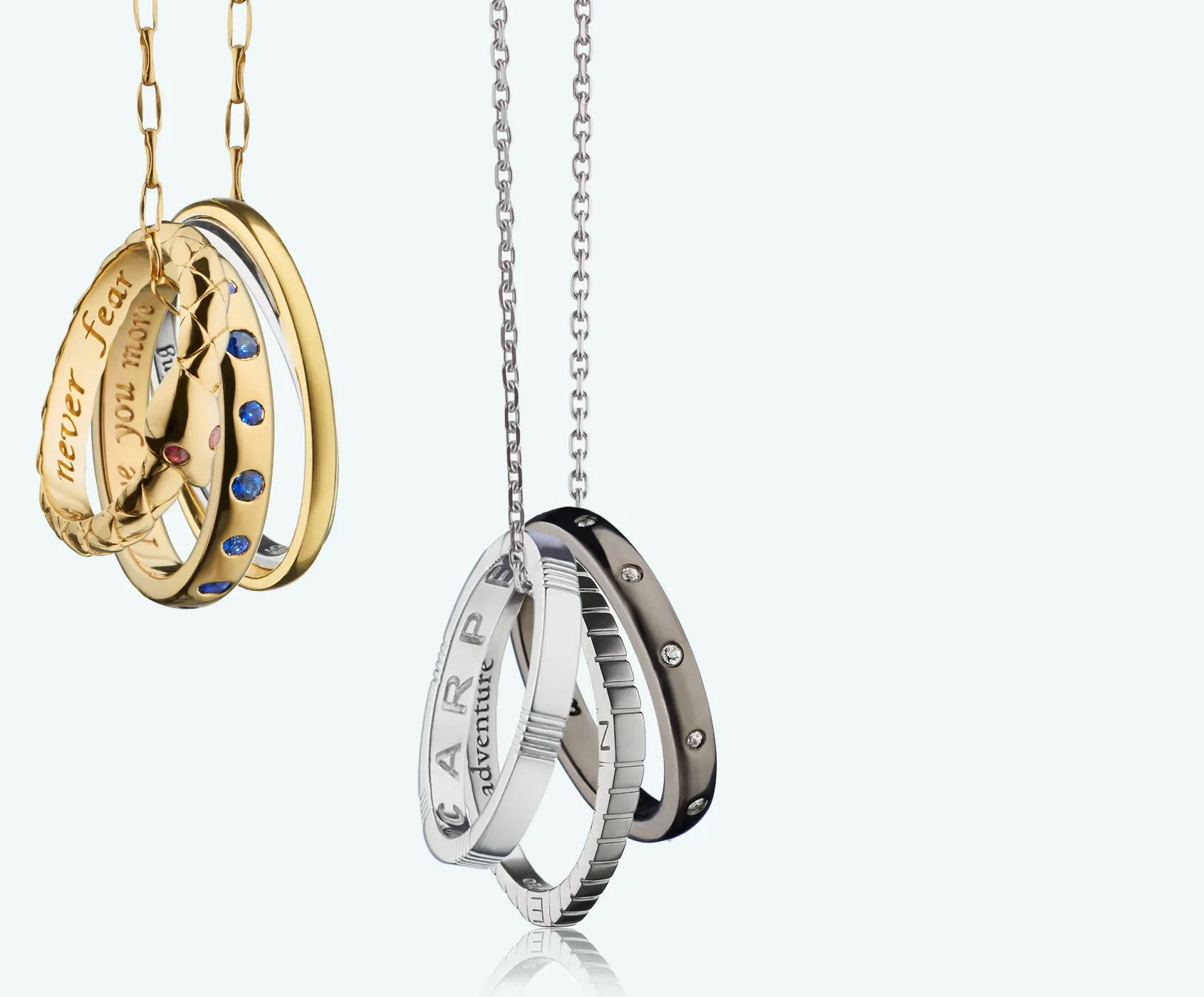 Poesy Ring Necklace Collection