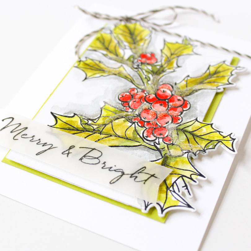 Essentials by Ellen Mondo Holly card by Carissa Wiley