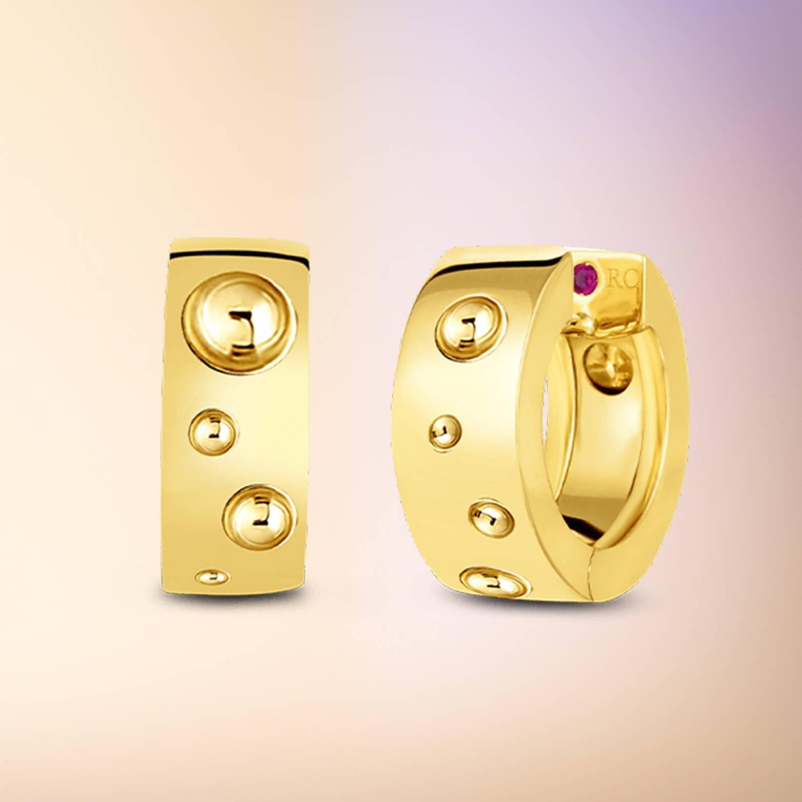 Yellow Gold Huggie Hoop Earrings