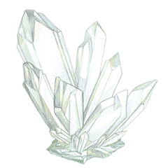 CLEAR QUARTZ CRYSTAL Energized with Clear Quartz, a stone believed to calm and enhance Positivity, Harmony and Clarity.