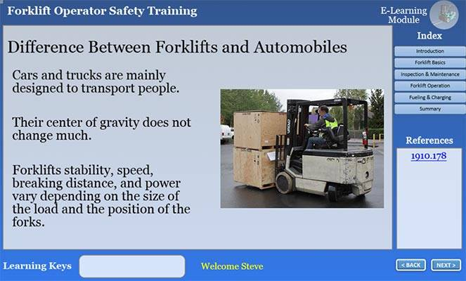 Difference between cards and forkllifts