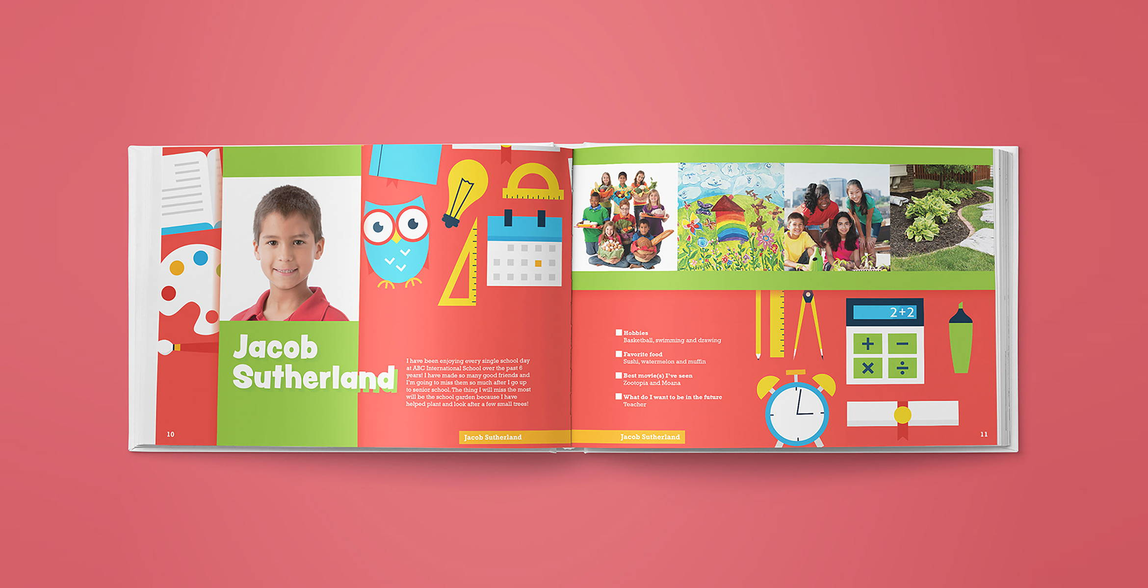 School yearbook design | Blank Sheet