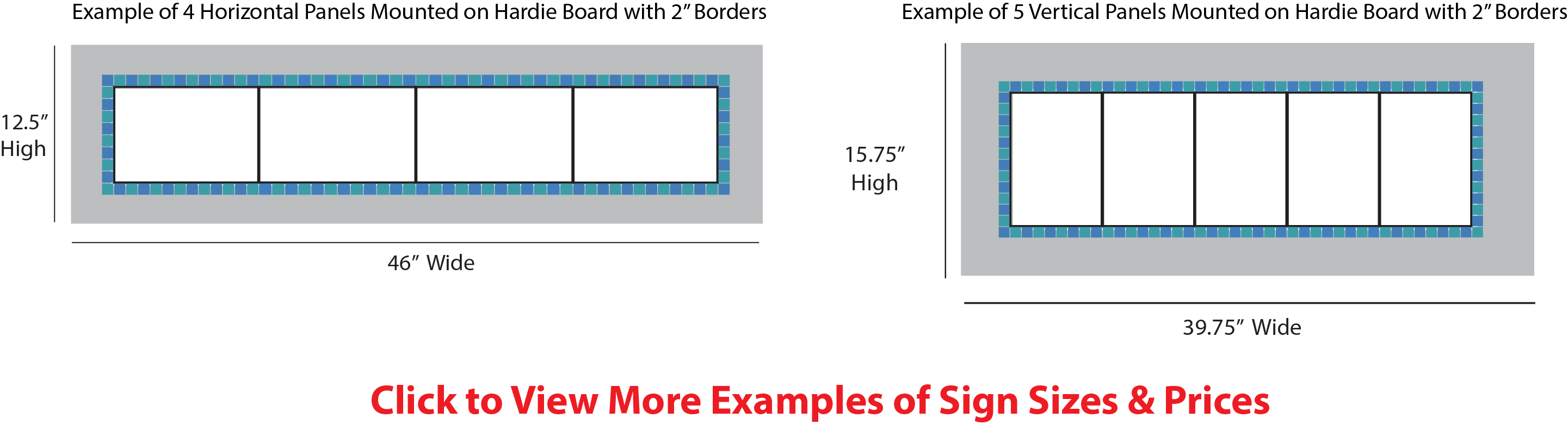Sign Sizes & Prices