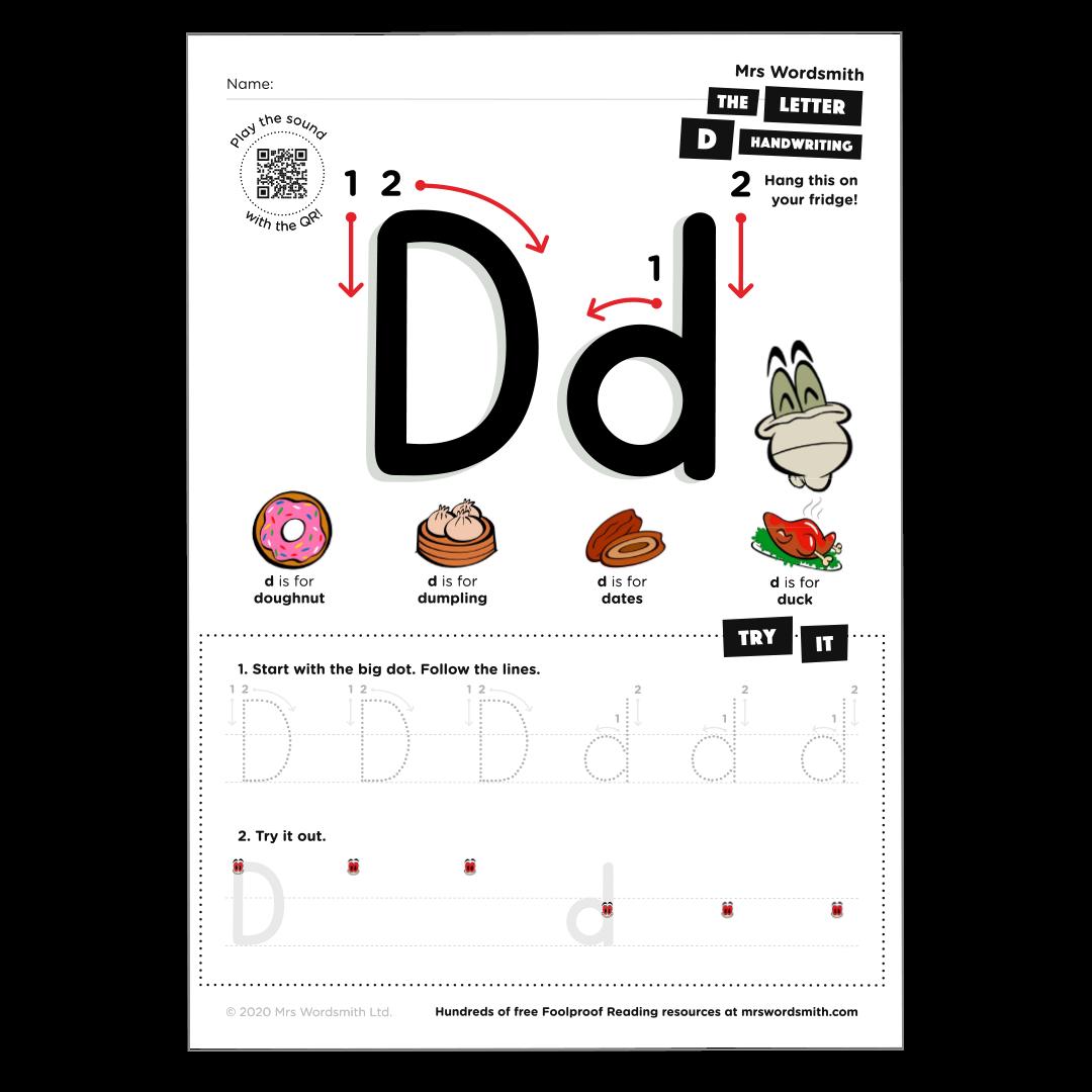 Letter d activity