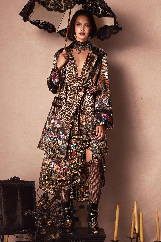 CAMILLA leopard print coat