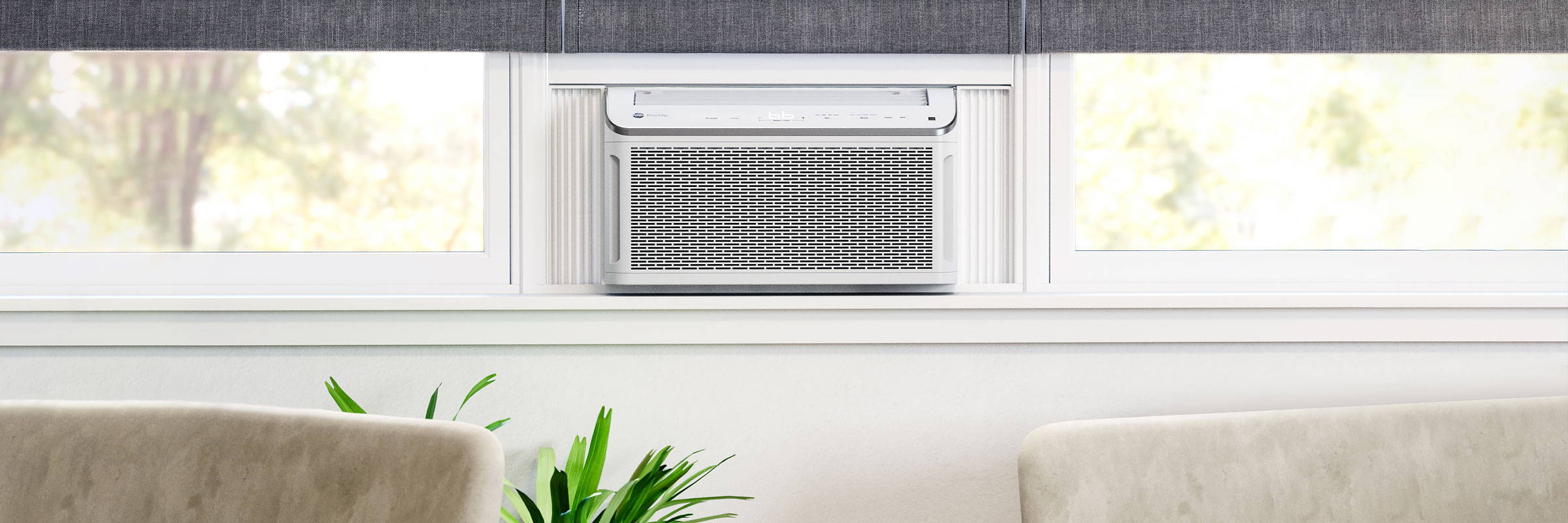 Room Air Conditioner installed in a living room.