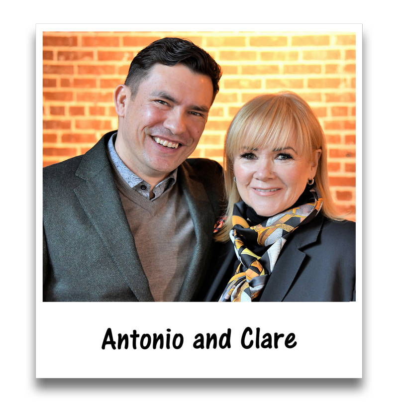 antonio and clare - founders of Vitaman USA