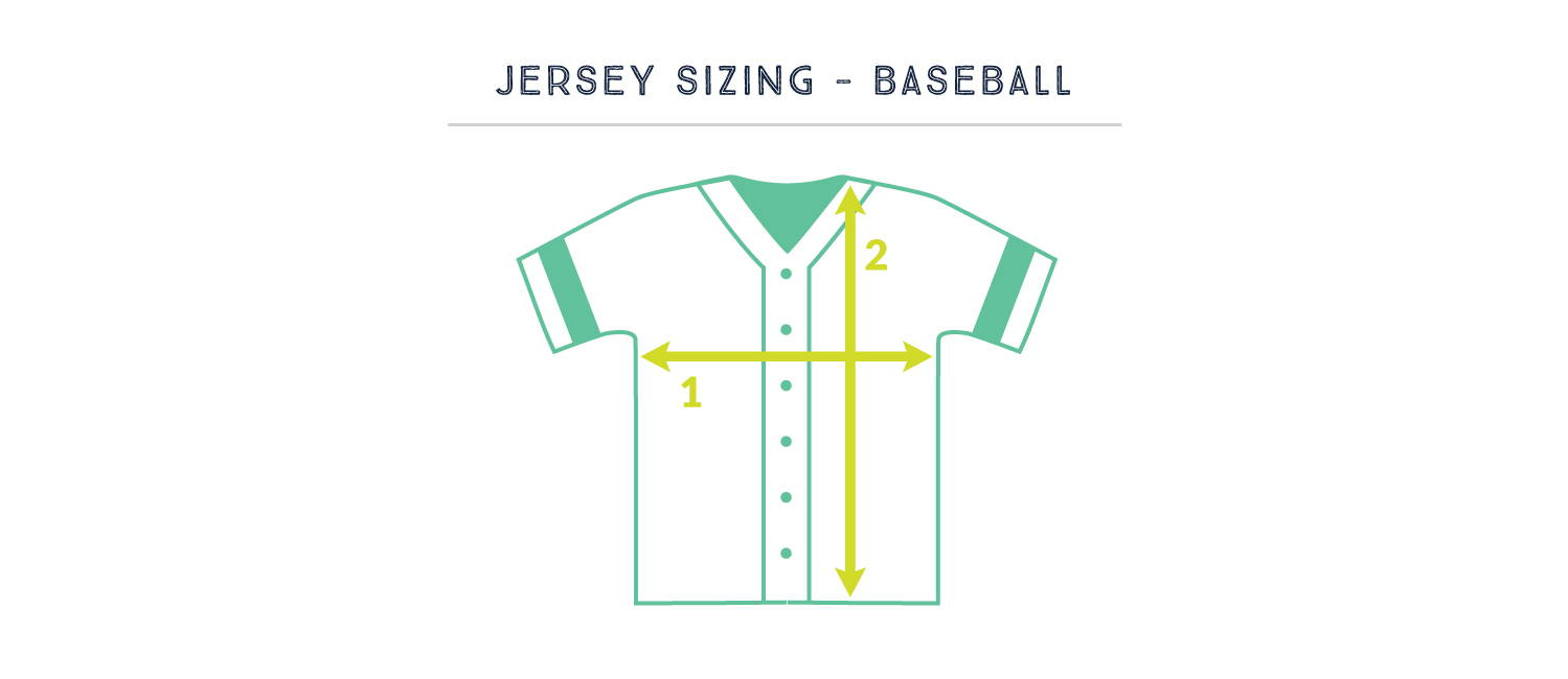 JerseysMadeEasy.com Private Label Sublimated Baseball Jersey Sizing