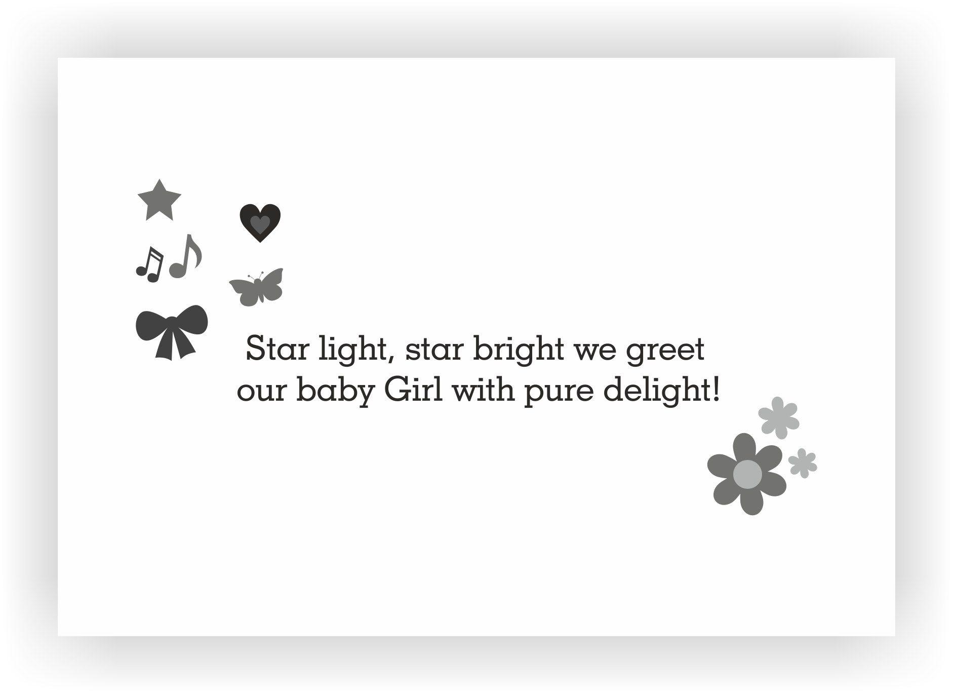 new born baby girl i birth announcement gift chococraft