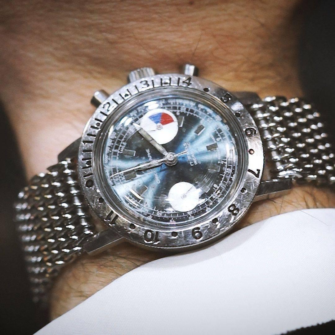 Ollech and Wajs Zurich 1956 OW vintage watch Swiss made SILVERNIGHT OW2006
