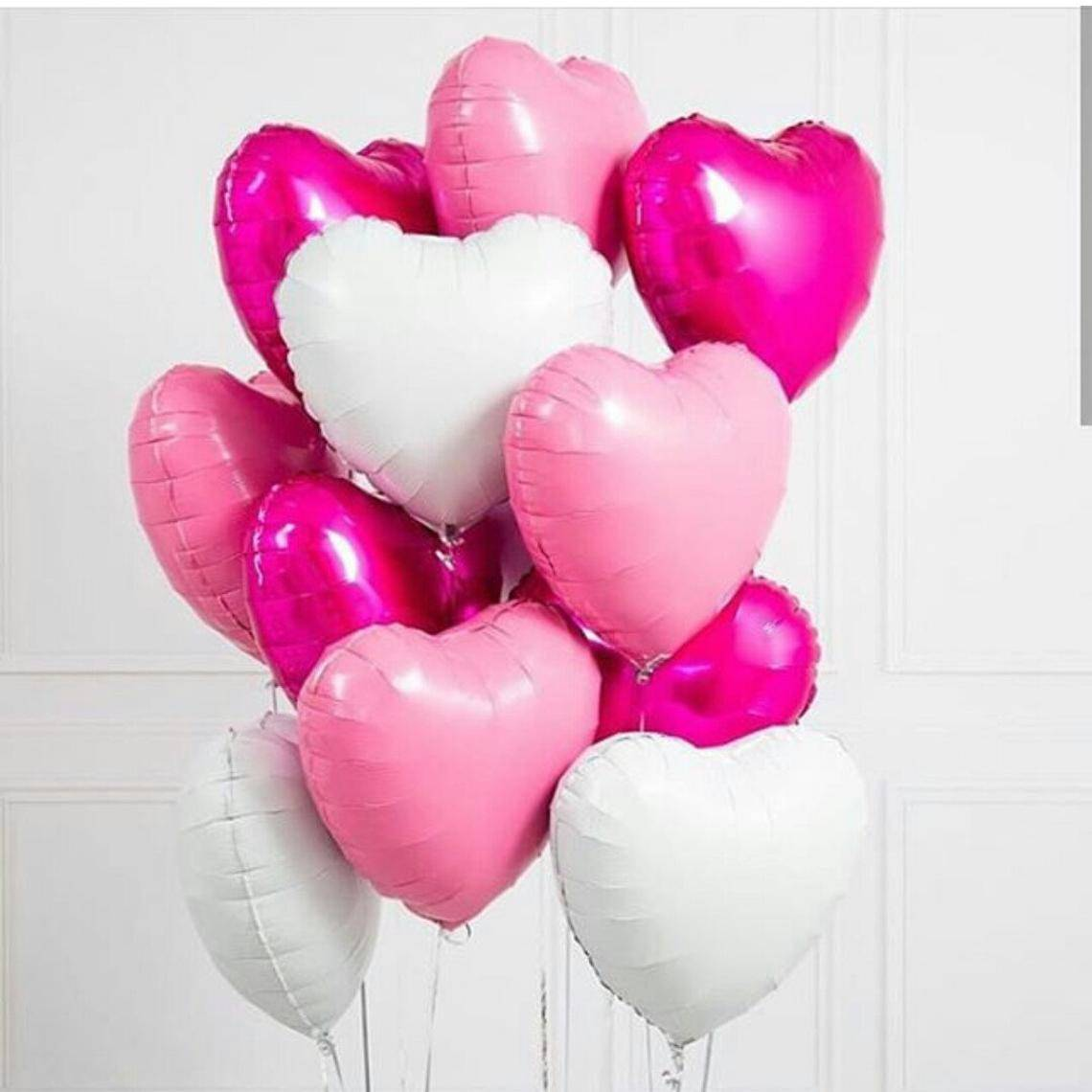 Valentine's day decorations | Valentine's day Heart Balloon Bouquet White & Pink Balloons | Engagement Party | Wedding Decoration