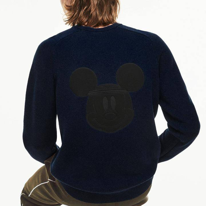 Lacoste Disney Mickey Crew Neck Sweater Men's Navy