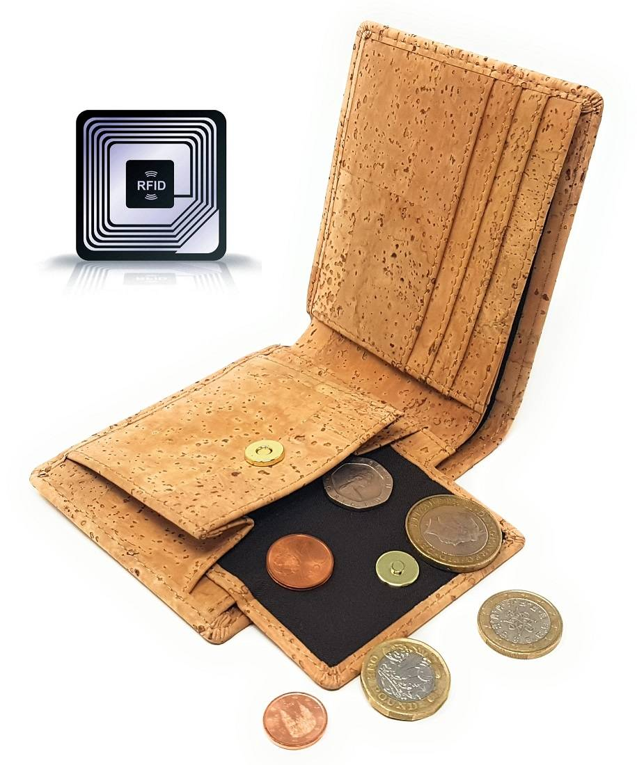eco friendly wallet with coin pocket