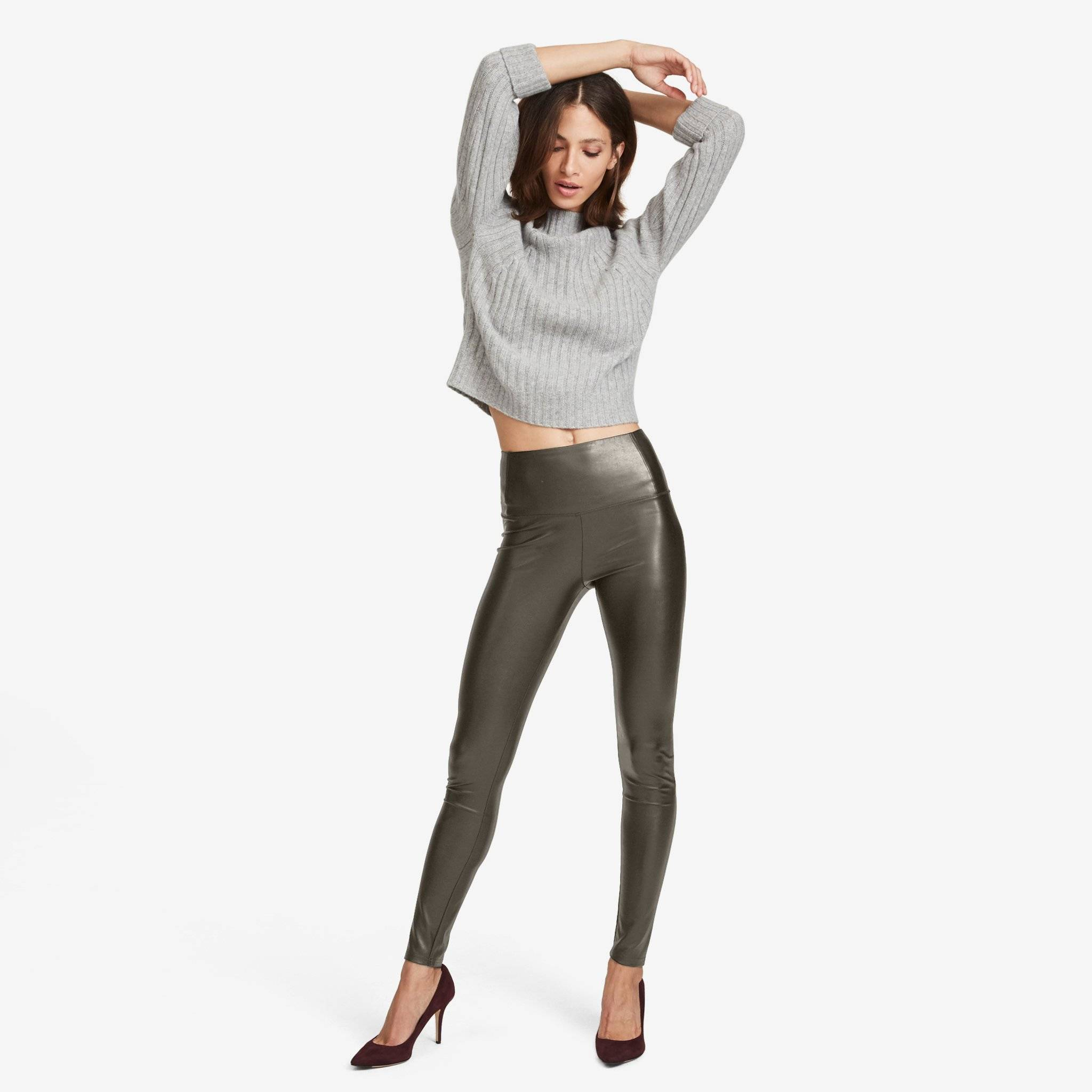 Vegan Leather Legging (Olive)