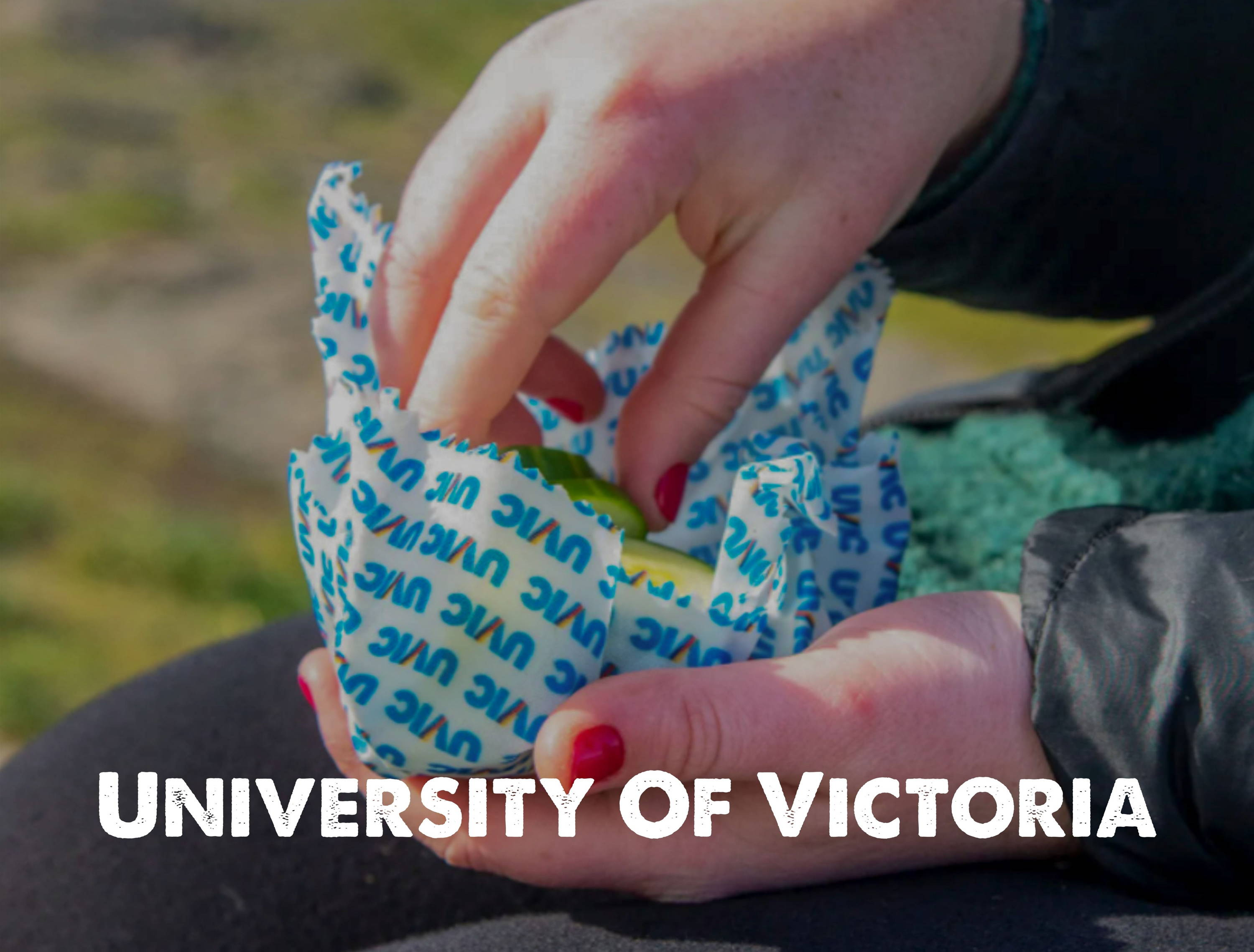 University of Victoria custom beeswax wraps with Nature Bee