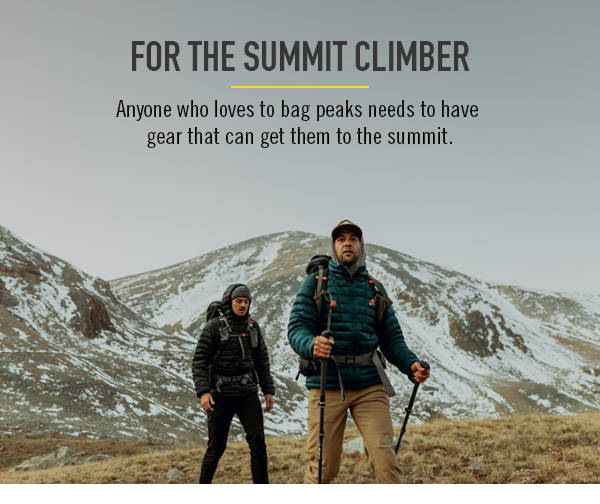 For the summit climber