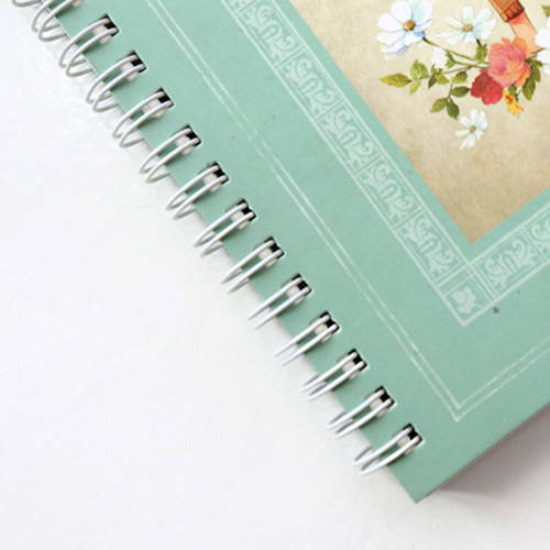 Twin-wire binding - Anne story spiral undated monthly diary notebook